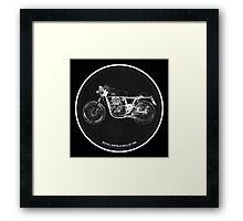 Royal Enfield Bullet 500 black art for men cave Framed Print