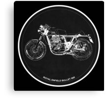 Royal Enfield Bullet 500 black art for men cave Canvas Print