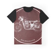 Royal Enfield Bullet 500 Classic motorcycle on red poster Graphic T-Shirt