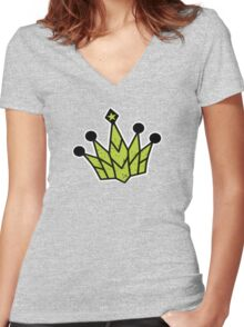 Need For Speed - Crown Logo Women's Fitted V-Neck T-Shirt