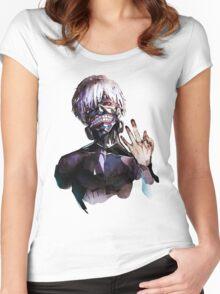 Ken Kaneki Women's Fitted Scoop T-Shirt