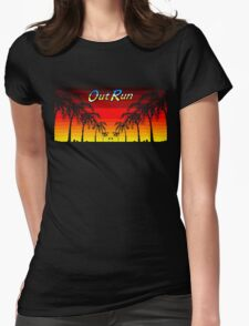 OUT RUN - LAST WAVE Womens Fitted T-Shirt