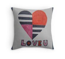 sixties love Throw Pillow