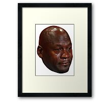 Crying Jordan Framed Print