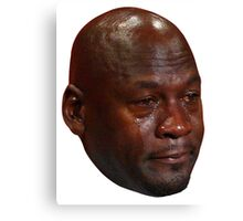 Crying Jordan Canvas Print