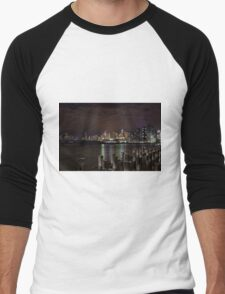 Dockland with Etihad Stadium in the background Men's Baseball ¾ T-Shirt