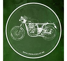 Royal Enfield Bullet 500, motorcycle Photographic Print
