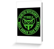 TYRELL CORPORATION - BLADE RUNNER (GREEN) Greeting Card
