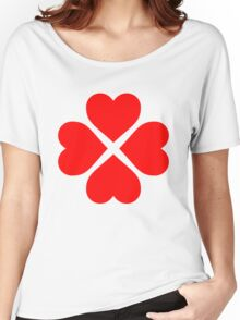 Heart Flower Women's Relaxed Fit T-Shirt