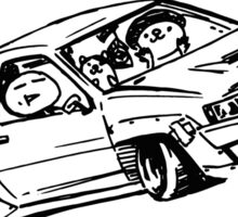 Crazy Car Art 0015 Sticker