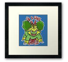 PokéPun - 'Genie In a Grotle' Framed Print