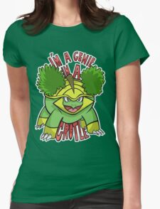 PokéPun - 'Genie In a Grotle' Womens Fitted T-Shirt