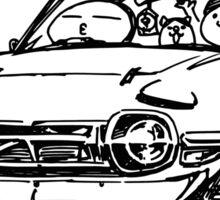 Crazy Car Art 0016 Sticker