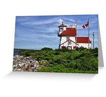 Fort Point Lighthouse - Nova Scotia Greeting Card