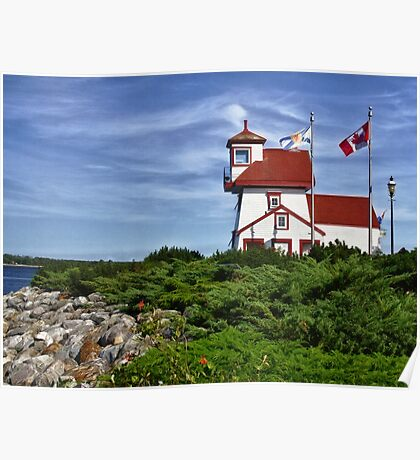 Fort Point Lighthouse - Nova Scotia Poster