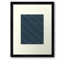 Pattern 001 Hawaiian Vibes Blue Squares Framed Print