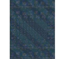 Pattern 001 Hawaiian Vibes Blue Squares Photographic Print