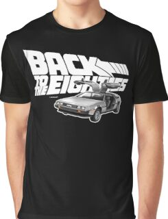 Delorean Back to the Future 80s Style Graphic T-Shirt