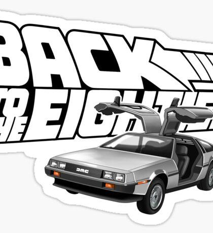 Delorean Back to the Future 80s Style Sticker