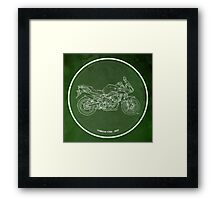 Classic motorcycle, orriginal gift for men Framed Print