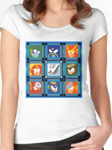 Megaman 2 Boss Select Women's Fitted Scoop T-Shirt