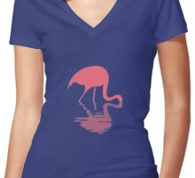 Swan Women's Fitted V-Neck T-Shirt