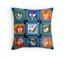 Megaman 2 Boss Select Throw Pillow