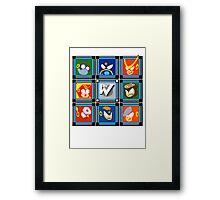 Megaman 2 Boss Select Framed Print