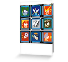 Megaman 2 Boss Select Greeting Card