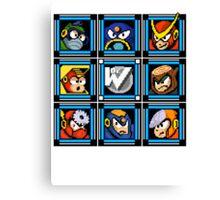Megaman 2 Boss Select Canvas Print