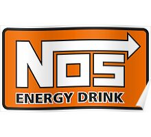 Nos Energy Drink Logo (Nitrous Oxide Systems)  Poster