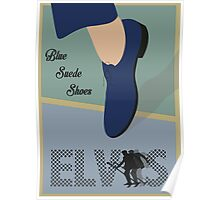 """Blue Suede Shoes"" Elvis Presley Poster"