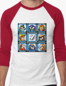 Megaman 2 Boss Select Men's Baseball ¾ T-Shirt