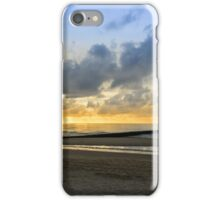 Beach in Domburg before sunset iPhone Case/Skin