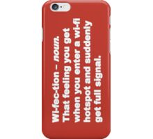 Wi-fec-tion (white) V iPhone Case/Skin