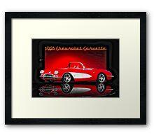 1958 Corvette Roadster 'Reflections' Framed Print