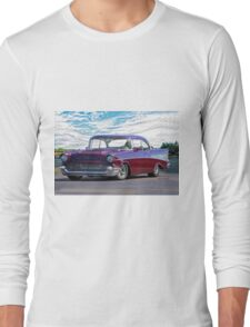 1957 Chevrolet Bel Air 'Wine Country' Long Sleeve T-Shirt