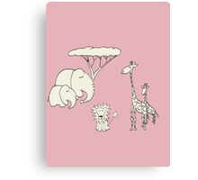 safari - pink Canvas Print