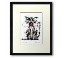 Ugly the cat Framed Print