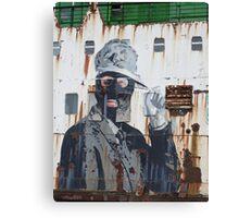 Gangster in a ski mask Criminal Graffiti photograph Canvas Print