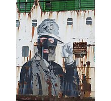Graffiti on the side of a Ship Photographic Print