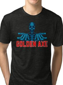 GOLDEN AXE SKELETON Tri-blend T-Shirt