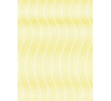 Pattern 003 Gold Strands Waves Photographic Print