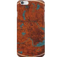 Boston old map and quote iPhone Case/Skin