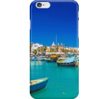 Fishing boats on turquoise sea iPhone Case/Skin