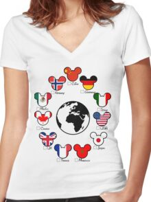Epcot Women's Fitted V-Neck T-Shirt