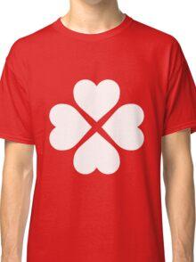 White Heart Flower Classic T-Shirt
