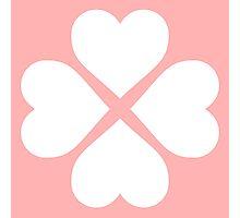 White Heart Flower Photographic Print