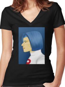 Painting Series - James Women's Fitted V-Neck T-Shirt
