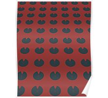Pattern 004 Sacred Red Lotus Pad Design Poster